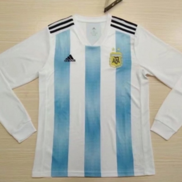 Adidas Argentina Long Sleeve Home Jersey FIFA 2018 39d017f26